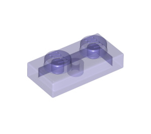 LEGO Transparent Purple Plate 1 x 2 (6225 / 28653)