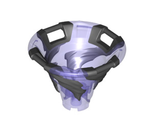 LEGO Transparent Purple Tornado with Black Handles (40923)