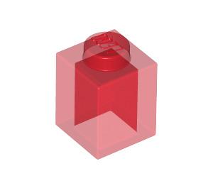 LEGO Transparent Red Brick 1 x 1 (30071)