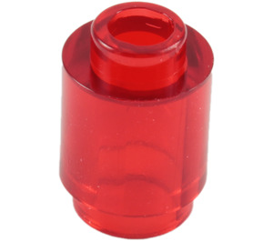LEGO Transparent Red Brick 1 x 1 Round with Open Stud (3062 / 30068)