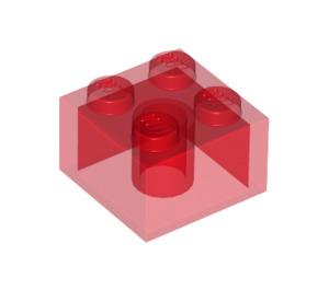 LEGO Transparent Red Brick 2 x 2 (6223 / 35275)
