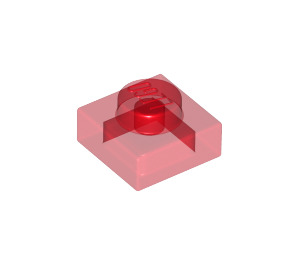 LEGO Transparent Red Plate 1 x 1 (3024 / 28554 / 30008)