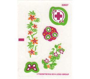 LEGO Transparent Sticker Sheet for Set 41033 (17762 / 17763)