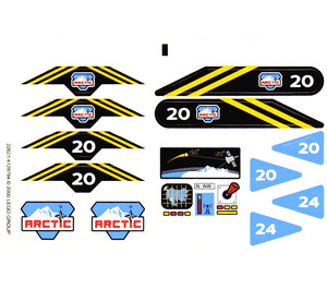 LEGO Transparent Sticker Sheet for Set 6520 (22621)