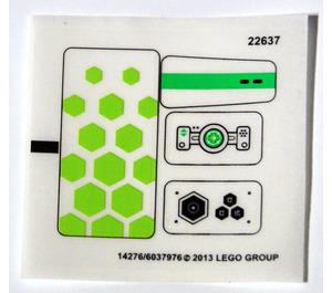 LEGO Transparent Sticker Sheet for Set 70706 (14276)