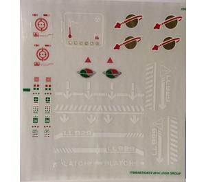 LEGO Transparent Sticker Sheet for Set 70816 (17608)
