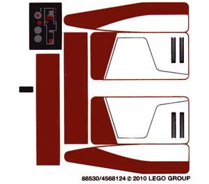 LEGO Transparent Sticker Sheet for Set 8091 (88530)