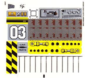 LEGO Transparent Sticker Sheet for Set 9486 (99431)