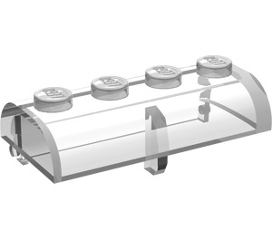 LEGO Transparent Treasure Chest Lid 2 x 4 with Thick Hinge (4739)