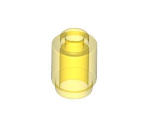LEGO Transparent Yellow Brick 1 x 1 Round with Open Stud (3062 / 30068)
