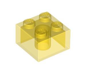 LEGO Transparent Yellow Brick 2 x 2 (6223)