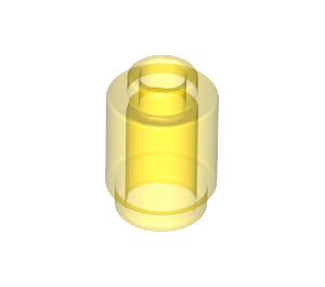 LEGO Transparent Yellow Brick Round 1 x 1 with Open Stud (3062 / 30068 / 35390)