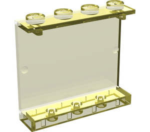 LEGO Transparent Yellow Panel 1 x 4 x 3 without Side Supports, Solid Studs (4215)