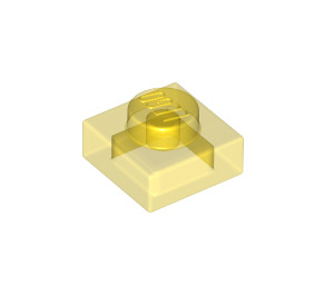 LEGO Transparent Yellow Plate 1 x 1 (3024 / 28554 / 30008)