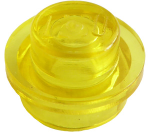 LEGO Transparent Yellow Plate 1 x 1 Round (30057 / 34823)