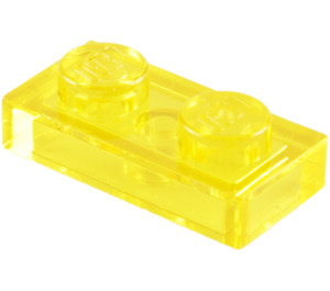 LEGO Transparent Yellow Plate 1 x 2 (3023 / 6225 / 28653)