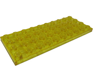 LEGO Transparent Yellow Plate 4 x 10