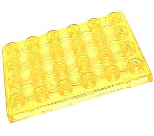 LEGO Transparent Yellow Plate 4 x 6