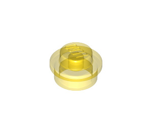 LEGO Transparent Yellow Round Plate 1 x 1 (6141 / 30057 / 34823)