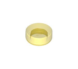 LEGO Transparent Yellow Tile 1 x 1 Round (35380 / 98138)