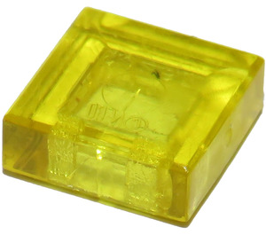 LEGO Transparent Yellow Tile 1 x 1 with Groove (3070 / 30039)