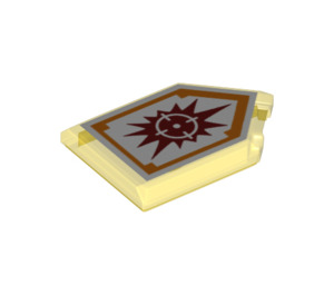 LEGO Transparent Yellow Tile 2 x 3 Pentagonal with Target Blaster Power Shield (24330)