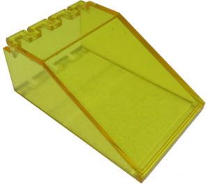 LEGO Transparent Yellow Windscreen 6 x 4 x 2 Canopy