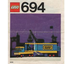 LEGO Transport Truck Set 694 Instructions