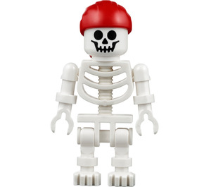 LEGO Treasure Hunt Skeleton with Red Bandana Minifigure