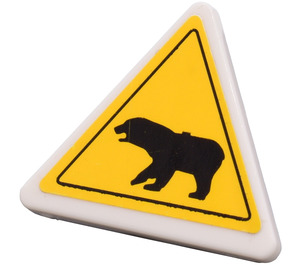 LEGO Triangular Sign with Clip with Bear Warning Sticker from Set 4436 (30259)
