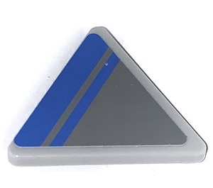 LEGO Triangular Sign with Clip with Blue Lines (Left) Sticker (30259)