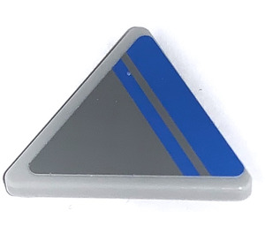 LEGO Triangular Sign with Clip with Blue Lines (Right) Sticker (30259)