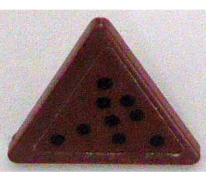LEGO Triangular Sign with Clip with Nine Black Dots Sticker (30259)