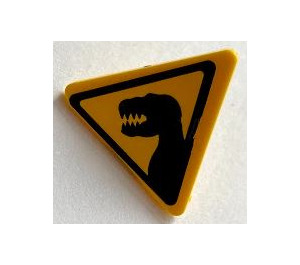 LEGO Triangular Sign with Clip with Sticker from Set 5887 (30259)