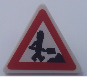 LEGO Triangular Sign with Clip with Sticker from Set 7631 (30259)