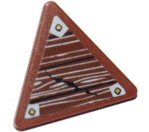LEGO Triangular Sign with Clip with Wood and Brackets Sticker (30259)
