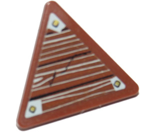 LEGO Triangular Sign with Clip with Wooden Board and 3 Pins Model Left Side Sticker from Set 9446 (30259 / 39728)