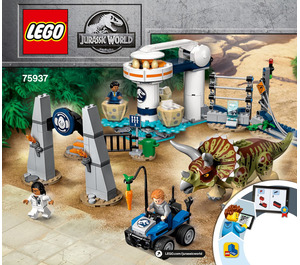 LEGO Triceratops Rampage Set 75937 Instructions