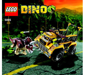 LEGO Triceratops Trapper Set 5885 Instructions