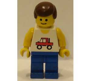 LEGO Trucker with Blue Legs and Brown Hair Minifigure