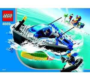 LEGO Turbo-Charged Police Boat Set 4669 Instructions