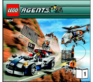 LEGO Turbocar Chase Set 8634 Instructions