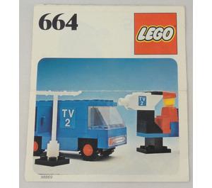 LEGO TV Crew Set 664-1 Instructions