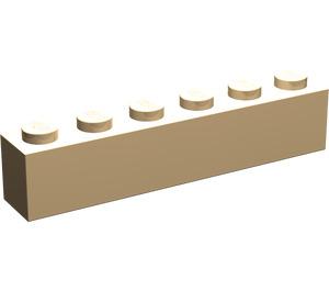 LEGO Very Light Orange Brick 1 x 6 (3009)