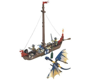 LEGO Viking Boat against the Wyvern Dragon Set 7016