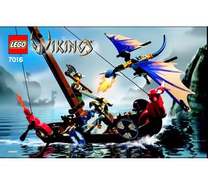 LEGO Viking Boat against the Wyvern Dragon Set 7016 Instructions
