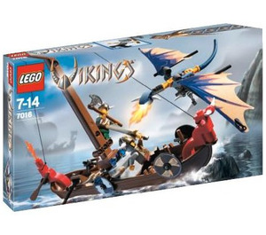 LEGO Viking Boat against the Wyvern Dragon Set 7016 Packaging