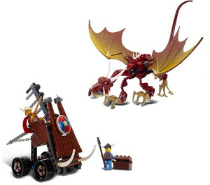 LEGO Viking Catapult versus the Nidhogg Dragon  Set 7017