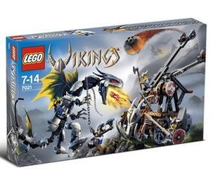LEGO Viking Double Catapault versus the Armoured Ofnir Dragon Set 7021 Packaging