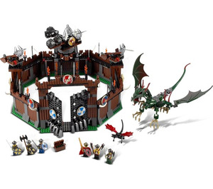 LEGO Viking Fortress against the Fafnir Dragon Set 7019